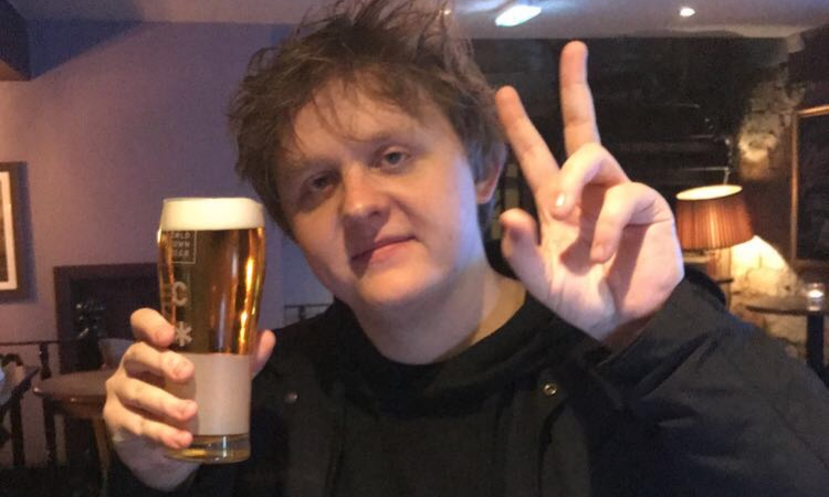 Lewis Capaldi Spotted with Cold Town Beer